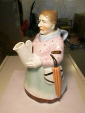 Vintage Ceramic Old Lady Carrying A Pitcher Coin Bank Piggy Bank Vending Japan