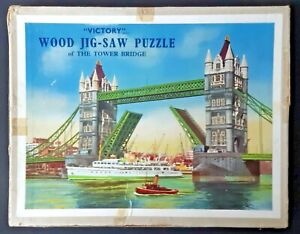 Victory Wood Jig-Saw Puzzle Tower Bridge, London - Complete TP No. 2 80 Pieces