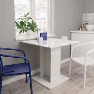 vidaXL Esstisch Hochglanz-Weiß 80x80cm Spanplatte Küchentisch Esszimmertisch