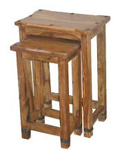 JALI TALL NEST OF 2 TABLES/ HANDMADE FROM REAL SOLID INDIAN SHEESHAM ROSEWOOD