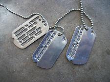 WWII 1942 US Next of Kin Utah UT dog tags ID soldier