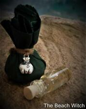 MONEY Mojo Gris Gris Bag w/ Ritual Oil Potion~Wicca Witchcraft Hoodoo Spell Oil