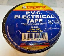 "one roll =10 BLACK INSULATED ELECTRICAL TAPE PVC VINYL .71"" x 60 FT"