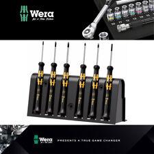 Wera Tools ESD Destornillador Set y rack para aplicaciones electrónicas 1550/6 030180