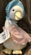 "Beatrix Potter The World of Peter Rabbit -JEMIMA PUDDLE DUCK 12"" Plush Edenw/Tag"