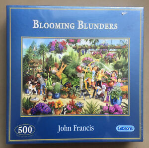 Gibsons Blooming Blunders 500 Piece Jigsaw Puzzle NEW AND COMPLETE