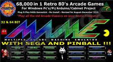 68000 Arcade - Mame - Sega - Pinball* Nes - SNES - SEGA 64GB USB NO INSTALL 2018