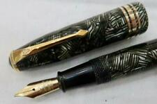 More details for conway stewart 58 fountain pen grey & black hatched c1950 large duro no. 58 nib