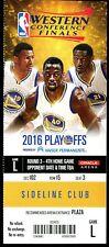 Ticket Basketball Golden State Warriors 2016 6/2 Cleveland Cavaliers Finals GM 1