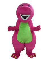 Christmas Barney The Dinosaur Mascot Costumes Adult Fancy Dress Clothing Outfits