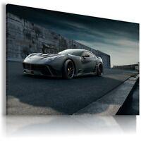 FERRARI F12 GRAPHITE BLACK Super Sport Car Large Wall Art Canvas Picture AU277