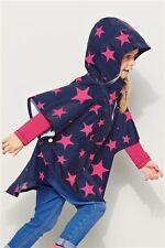 Nouvelle filles prochain Bleu Marine pink star poncho imperméable veste showerproof 3-12 mths