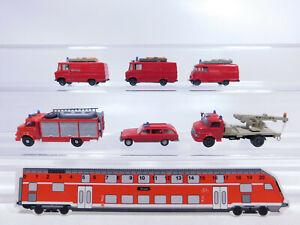 CR59-0,5# 6x Wiking H0/1:87 PKW etc Mercedes/MB Feuerwehr/FW: 27 + 250 T etc