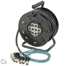 XLR Multiconductor 8/8 Cable Stagebox ETAPA Serpiente Teatro Bandas Extensión