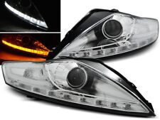 LED HEADLIGHTS LPFO54 FORD MONDEO MK-4 2007 2008 2009 2010 CHROME LED INDICATOR