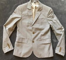 J.Crew Crewcuts Boys Lined Seersucker Ludlow Blazer Suit Jacket in Gray. Size 14