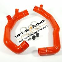 "NEW Red 2"" High Flow Turbo Inlet Pipe hose For BMW 135i 335i/xi 535i/xi 3.0L N54"