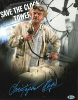 CHRISTOPHER LLOYD SIGNED 11X14 PHOTO BACK TO THE FUTURE DOC BROWN AUTO BECKETT E