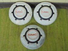 "69-75 GMC 3/4 1 Ton Dog Dish HUBCAPS 12"" Set of 3 Pickup Truck 16 16.5"" C25 C35"