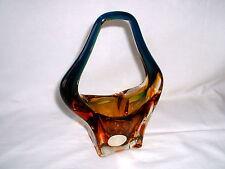 Murano Art glass 60's Italien Design  Glashenkelkorb venedig