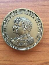 Beautiful antique and rare medal of King Carlos I and Queen Amélia of Portugal