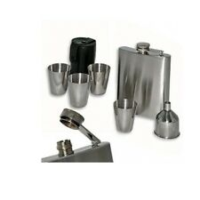 7 Piece Stainless Steel Flask Set