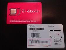 New T-Mobile Triple Cut Sim Card Standard 2Ff/Micro 3Ff/Nano 4Ff Prepaid/Postpai