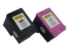 2 Drucker Patronen Black Color für HP 302XL Officejet 3830 3831 3834 4650 4654