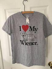 Dachshund Dog T Shirt I Love My Wiener Dog Unisex NWT Small