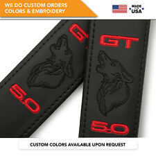 Seat Belt Covers Shoulder Strap Pads Custom Fits Ford Mustang Coyote GT 5.0 2PCS