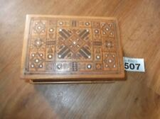 Vintage inlaid wooden box jewellery box