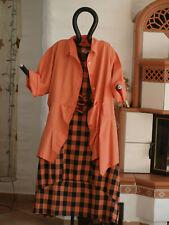 1950 LABASS Baumwoll Jacke Bluse Tunika RENATE mandarin orange XXL 52 54