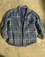 Vintage Plaid Flannel Shirt Large