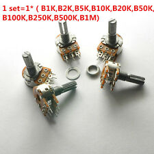 10Pcs WH148 6 Pin Dual Stereo Potentiometer 1K 2K 5K 10K 100K 250K 500K 15mm