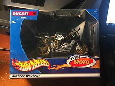 2002 Hot Wheels 1:18 Suzuki Moto Ducati 996    Black/White/Gold