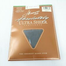 Vintage Hanes Absolutely Ultra Sheer Pantyhose Style 706 Size B Barely Black