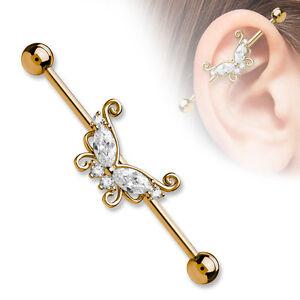 Industrial piercing earring Industrial jewelry piercing Industrial barbell pineapple Industrial Barbell,