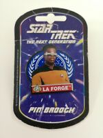 Geordi La Forge Brooch Star Trek The Next Generation On Card 1995