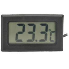 Termometro Igrometro a LED digitale piccolo nero