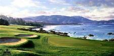 "Larry Dyke ""Pebble Beach"" SN Golf Print with Certificate 34"" x 17"""