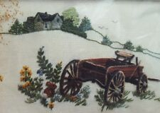 Stitchery OLD WAGON Kit FARM HOUSE THE Creative Circle #313 New Farm Scene