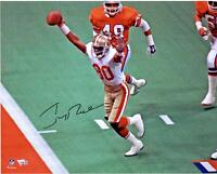 "Jerry Rice San Francisco 49ers Signed 16"" x 20"" Hands Up Touchdown Photograph"