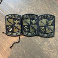 VTG Military Patches Leadership Excellence With Sword X 3, Collectible Patch