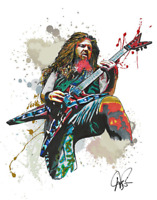 "Dimebag Darrell Pantera 16x20"" Numbered Limited Edition Art Print Poster"