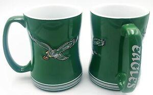 Philadelphia Eagles 14oz Sculpted Relief Coffee Mug NFL - VINTAGE LOGO