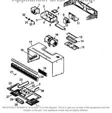 GRLPAL) JENN AIR BUILT IN MICROWAVE Mounting Bracket 54001051