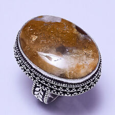 """Fashion Jewelry Ring S.9.25"""" Vr-649 palm Agate Vintage Style Handmade"""