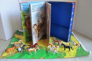 The Busy Books Ponies at Play Story Book + Pony Figurines and Playmate, GUC