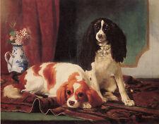 CAVALIER KING CHARLES ENGLISH TOY SPANIEL DOG ART PRINT Vincent de Vos (Large)