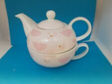 Tea for 1 Set Teapot & Cup Unused (made for wolworths)